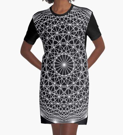 Dynamic Circle Chords II Graphic T-Shirt Dress