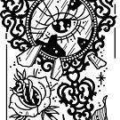 Heart and Key Locket Mirror by Ella Mobbs