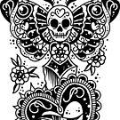 Skull Moth Dagger by Ella Mobbs