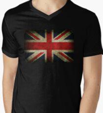 Grungy Union Jack Men's V-Neck T-Shirt