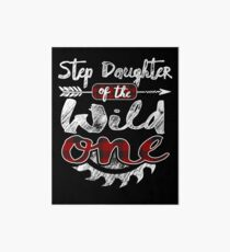 Step Daughter of the Wild One Shirt Lumberjack Woodworker Buffalo Plaid measure once plaid pajamas cabinet maker contractor wood timber working tools Galeriedruck