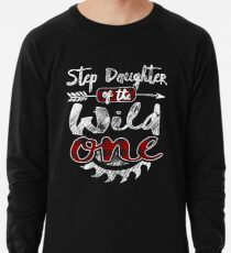 Step Daughter of the Wild One Shirt Lumberjack Woodworker Buffalo Plaid measure once plaid pajamas cabinet maker contractor wood timber working tools Leichtes Sweatshirt
