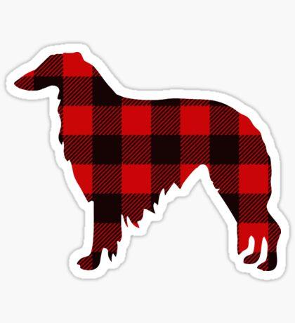 Lodge Borzoi Buffalo Plaid Sticker