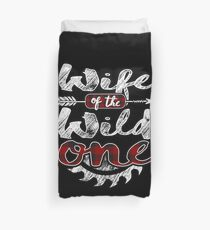 Wife of the Wild One Shirt Lumberjack Woodworker Sawdust Buffalo Plaid measure once plaid pajamas cabinet maker contractor wood timber working tools Bettbezug
