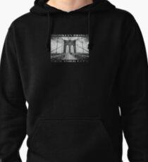 Brooklyn Bridge New York City (black & white poster edition on black) Pullover Hoodie