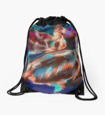 Abstract Duck Drawstring Bag