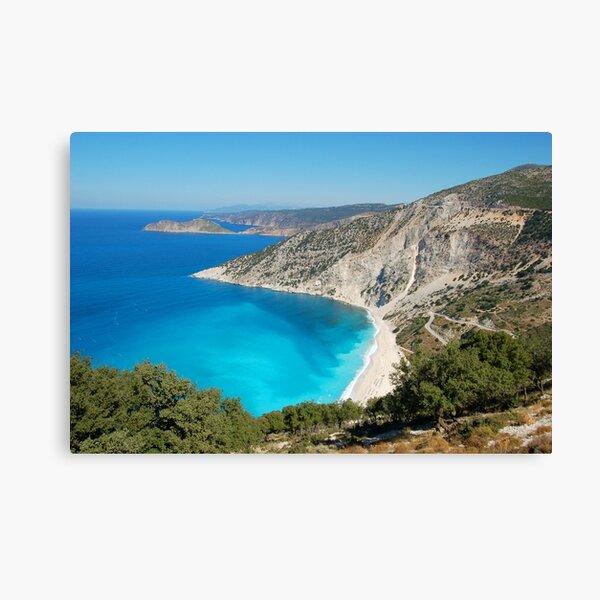 Myrtos Beach Canvas Print