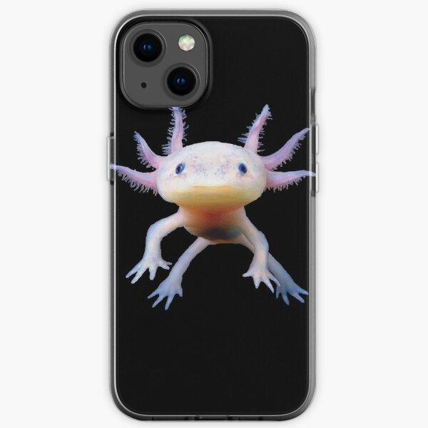 Cute Axolotl Salamander Amphibian Mexican Walking Fish iPhone Soft Case