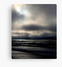 Cloudy Beach Day Canvas Print