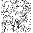 Cute Halloween Cat Sketches by Ella Mobbs