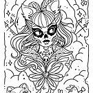 Cat Lady Sketch by Ella Mobbs