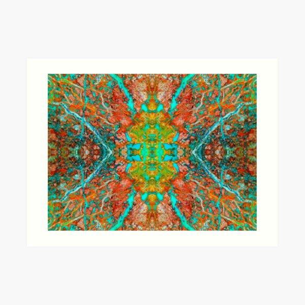 Enter The Labyrinth (Shattuckite) Art Print