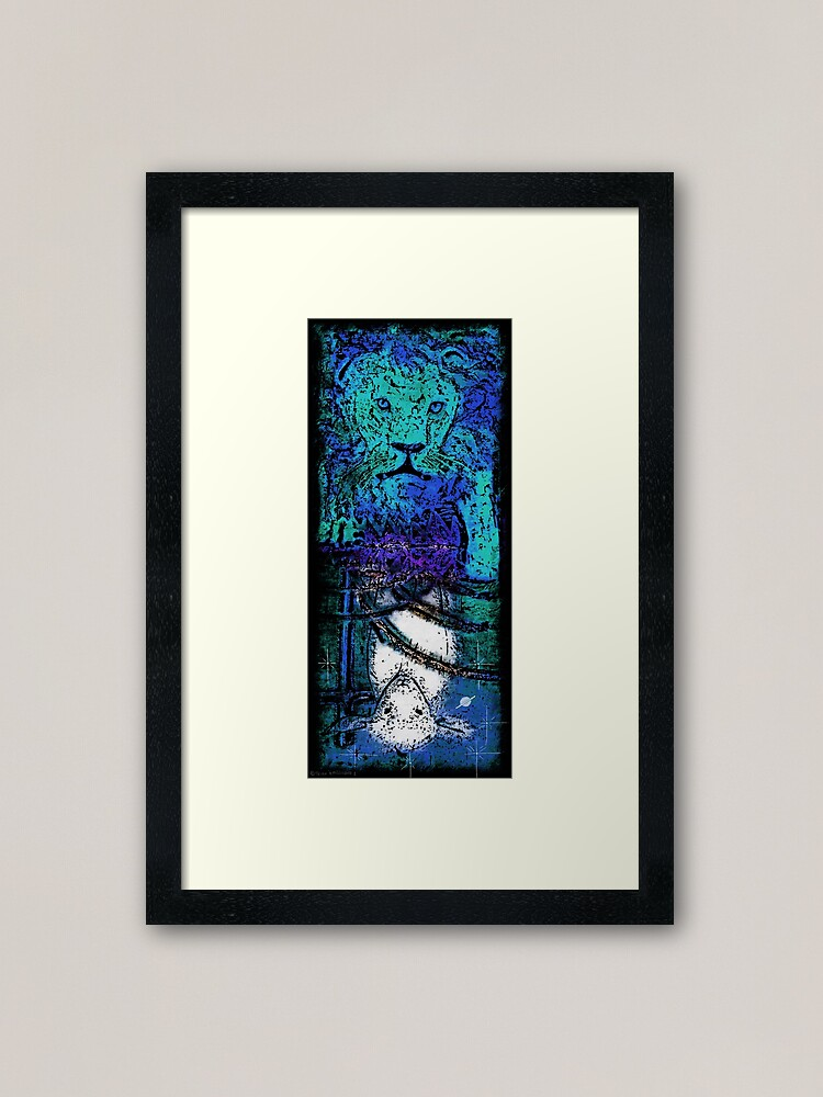 Alternate view of The Lion and the Lamb Framed Art Print