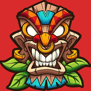 Angry Tiki Mask by memoangeles