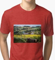 Midsummer Smoke In An English Valley Tri-blend T-Shirt