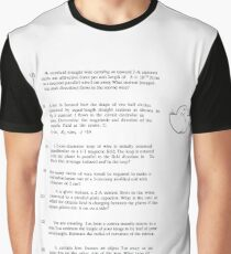 Calculus-Based General Physics II Course Final Examination #CalculusBased #GeneralPhysicsII #Course #FinalExamination #Calculus #Physics #Examination #Exam #PhysicsII #CalculusBasedGeneralPhysicsII Graphic T-Shirt