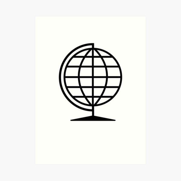 Globe Travel World Globe Art Print