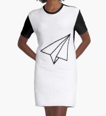 Paper Plane Aeroplane Airplane Glider Graphic T-Shirt Dress