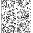 Doily Mandala Tattoo Flash by Ella Mobbs