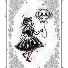 Halloween Fancy Dress Girl Playing Card by Ella Mobbs