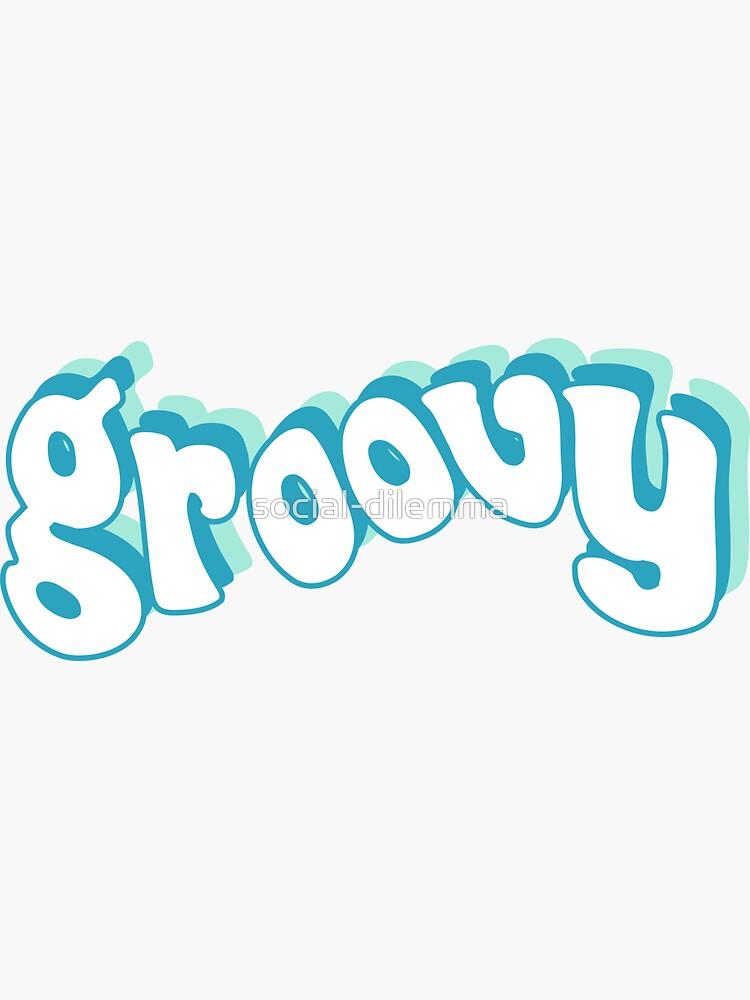 Groovy Retro Blue and Teal 70s by social-dilemma