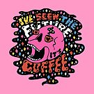 The Future is Coffee in color by doodlebymeg