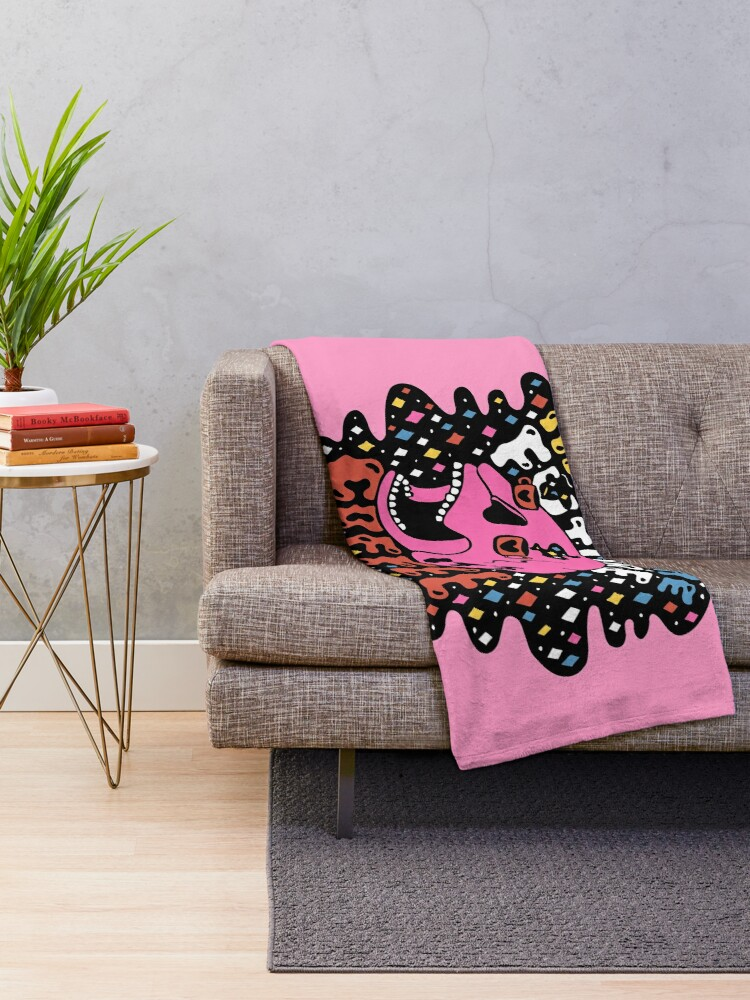 Alternate view of The Future is Coffee in color Throw Blanket