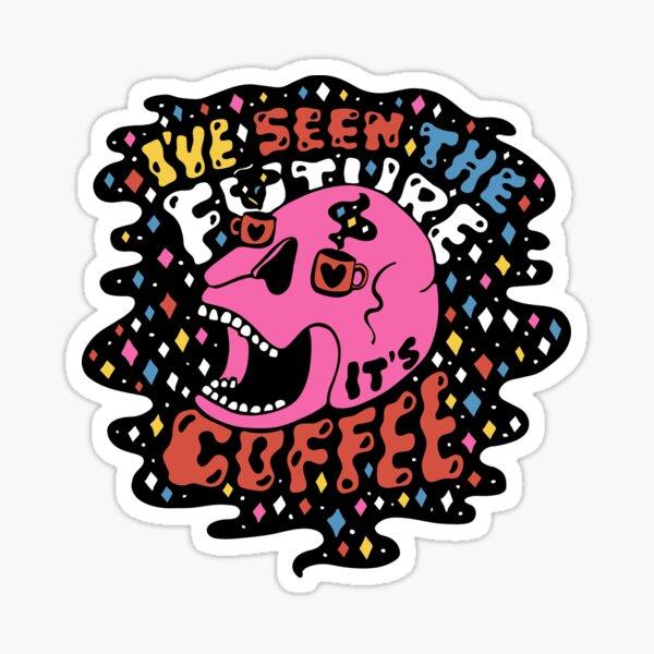 The Future is Coffee in color Sticker