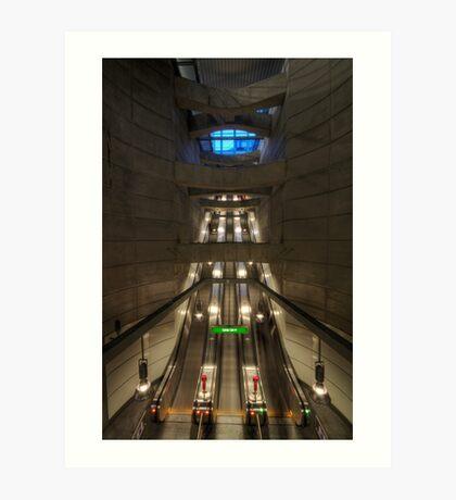 going underground Art Print