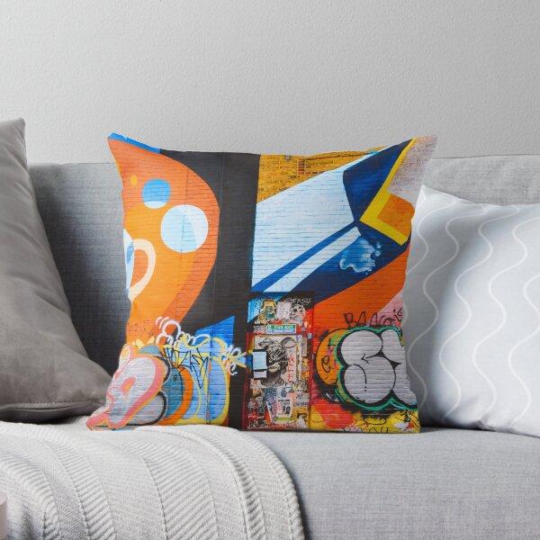 Abstract Wall Art Graffiti  Throw Pillow