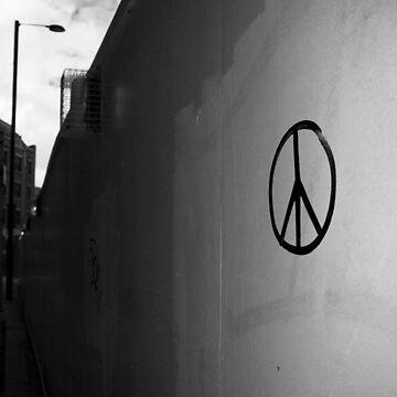 Peace Symbol Manchester Graffiti by JoeForrest