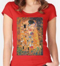 Gustav Klimt - The kiss  Fitted Scoop T-Shirt