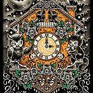 Keeping Time Halloween Print by Ella Mobbs