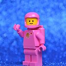 Classic Brick Spaceman Pink by CheepJokes