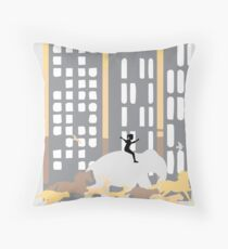 Running zoo Throw Pillow