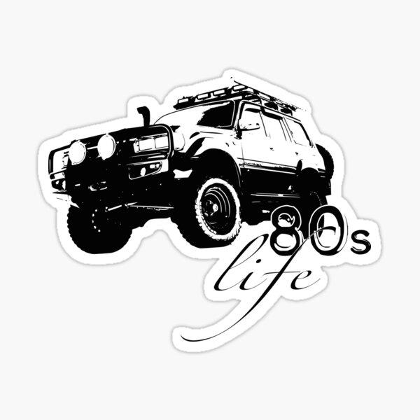 Making Sh*T Look Easy Sticker For Landcruiser 4X4 Funny For 4wd Landcruiser Prado Jeep Sticker