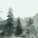 Winter Pines by Jennifer Chan