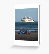 Cruise Liner Vistamar Greeting Card