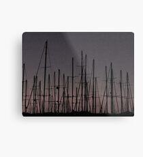 Bodrum Masts ( B&W version ) Metal Print