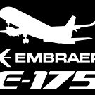 Embraer E175 - Silhouette (White) by TheArtofFlying