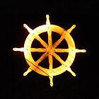 Illuminated Ship Wheel by wiggyofipswich