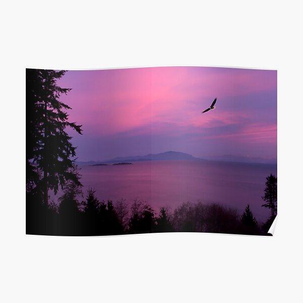 Sunrise Over the Strait Poster