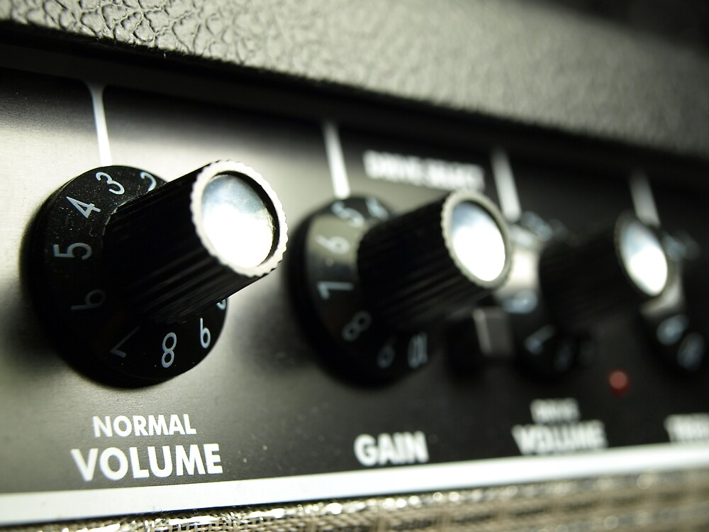 Knobs on a Guitar Amp by Zach933