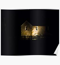 The Spring House at Night Poster