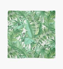 Green tropical leaves II Scarf
