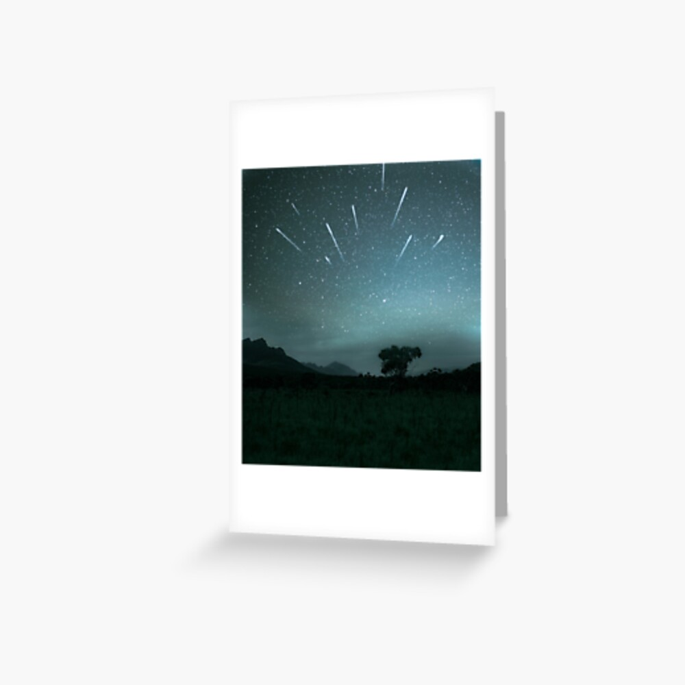 Geminid Meteor Shower - Grampians Greeting Card