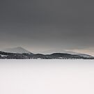 Frozen Loch Morlich, Scotland by Michael Marten