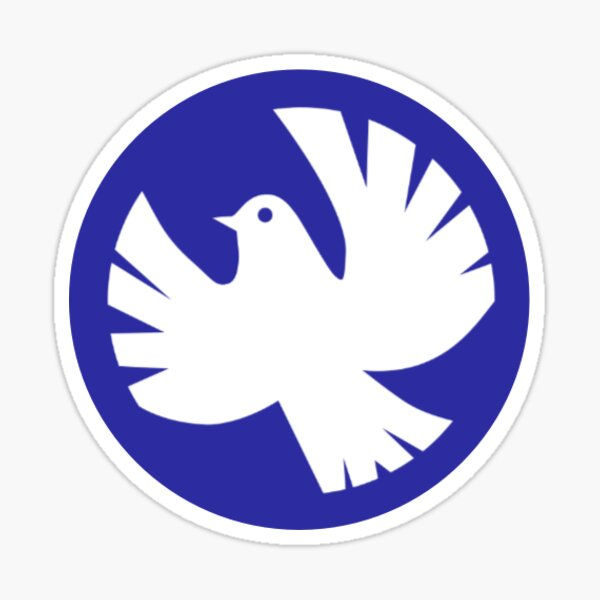 Peace White Dove Sticker