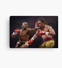Floyd Mayweather vs Manny Pacquiao  Canvas Print
