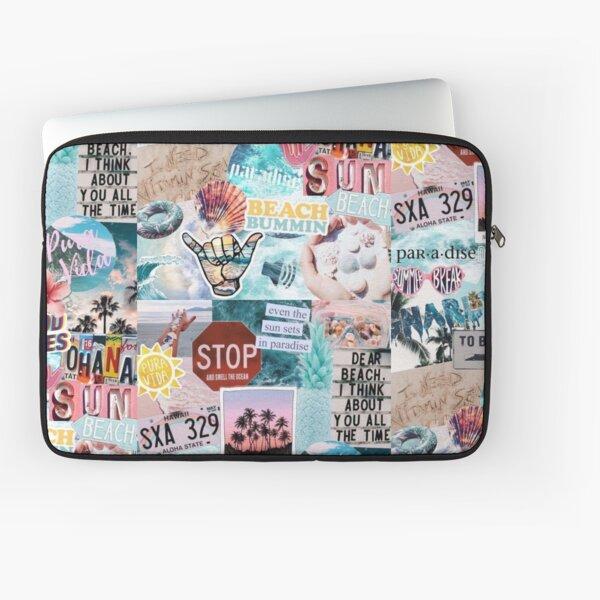 Summer Break Collage Laptop Sleeve